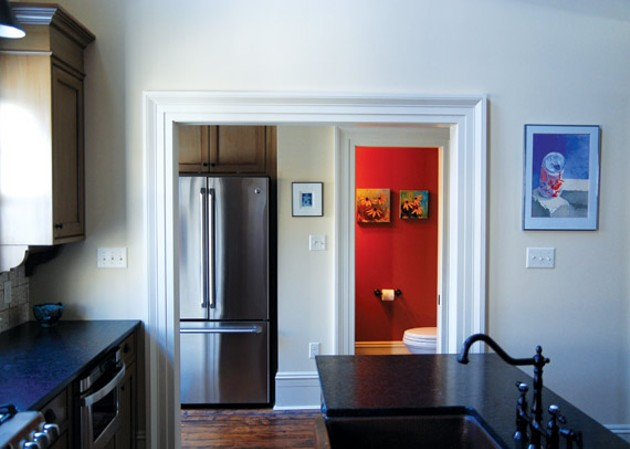 The  game-changer of this reno was moving the kitchen—it used to be here