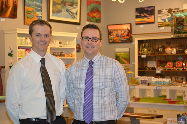 Joel Kelly and Mark Smith in the Bedford store - SUBMITTED