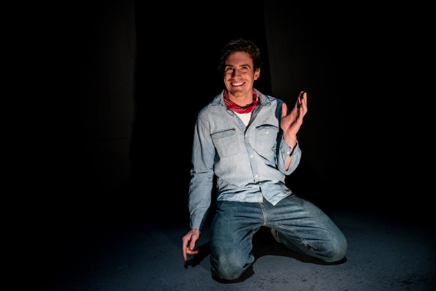 Alex Purdy as young Charlie Manson. - STOO METZ