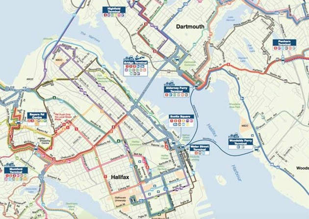 Halifax Transit's new network is all over the map. - HRM