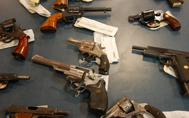 "Some ""crime guns"" Halifax Regional Police have confiscated, waiting to be destroyed. - THE COAST"
