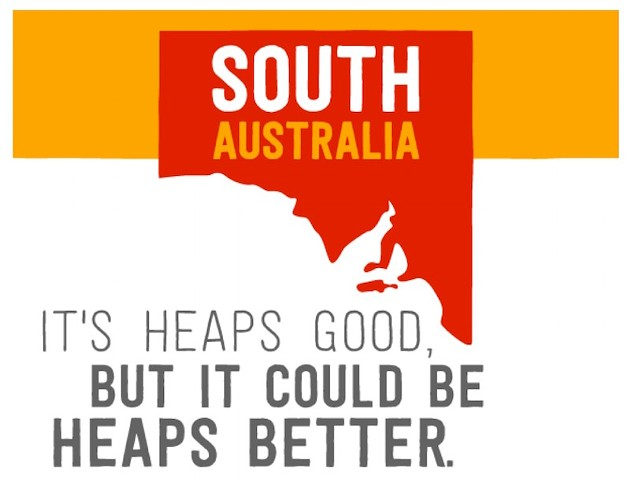 "From a climate change paper looking at ""8 Ways to Make South Australia Cleaner and Fairer,"" this slogan is the awesome version of Donald Trump's ""Make America Great Again."""