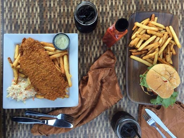 Wharf Wraps nails the fish and chips but could use some burger clarity.