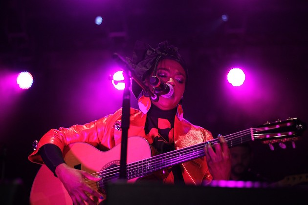 Lauryn Hill got three songs into her Halifax Jazz Festival set before a lightning storm took over the show. - ASHLEY CORBETT