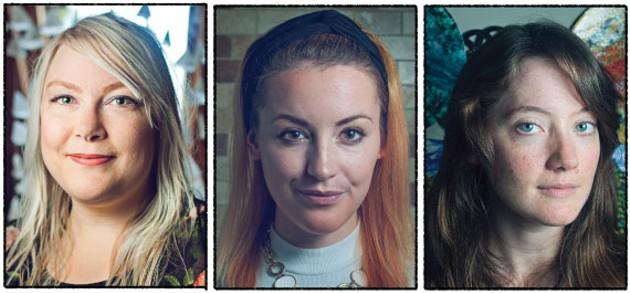 Artist Jordyn Bochon, Liz Mac and Amber Solberg will all appear at this weekend's festival. - LENNY MULLINS