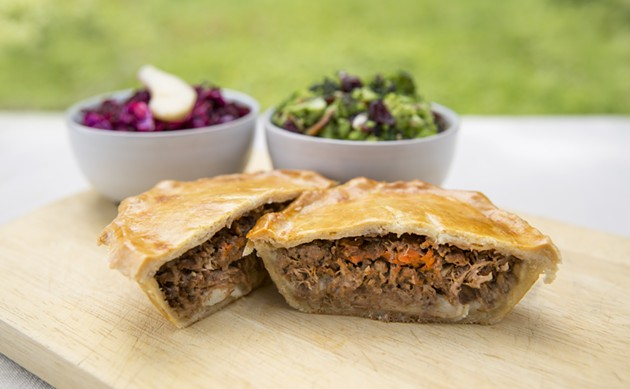Reach for the meat pies - KELLY CLARK