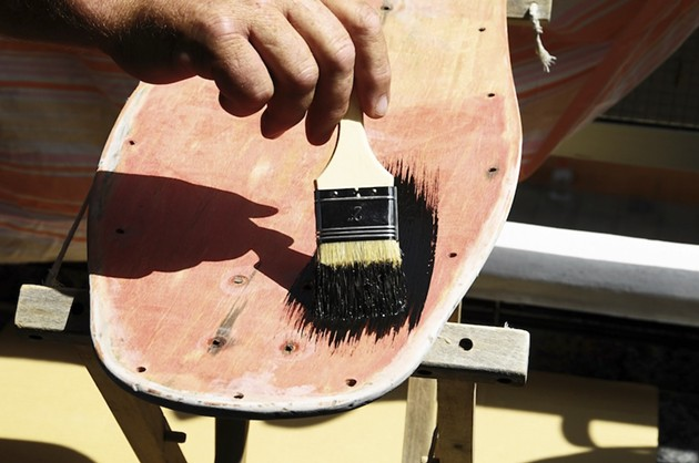 Skateboards are for riding. Busted skateboards are for turning into art to raise money through the Broken Deck Show.