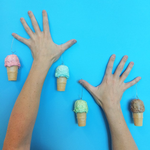 Ice cream cone decorations by Emily Lawrence  will be at Big Pony's pop-up - SUBMITTED