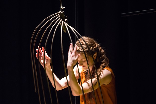 Performer Rhonda Baker in Burnwater: Alchemy - MICHELLE DOUCETTE