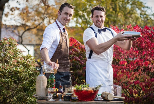 Matt Boyle and Jeffrey Van Horne push cocktail aesthetics with The Clever Barkeep. - RILEY SMITH