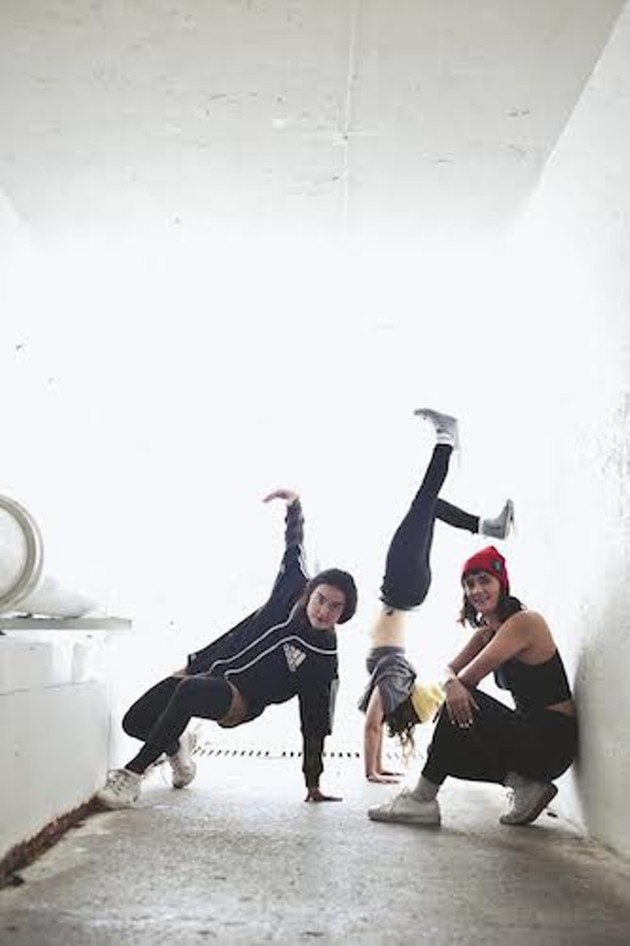 The dancers in B-SIDE break out their B-Girl moves (see 1). - RACHEL CHISHOLM