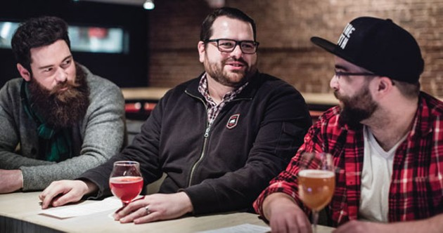Phil Church, Tony Wight and Kyle Andrus host 902Brewcast. - RILEY SMITH