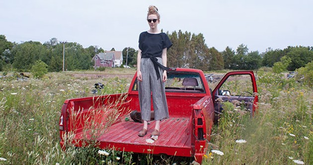 Grue's wrap top is breezy, durable and one-size-fits-all - JESKA GRUE