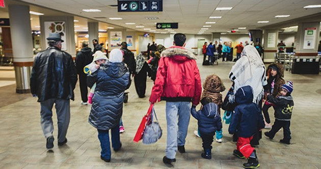 Syrian refugees arrive at the Halifax airport last year. - SPIRO PAPPAS FOR ISANS