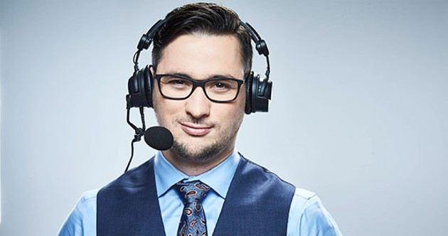 Trivett's shoutcasting career exploded from a charity event at Dal to professional video gaming's centre stage. - TURNER SPORTS/TBS
