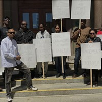 City hall employees protest racism in the workplace