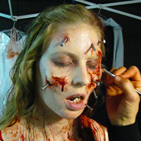 We asked a professional make-up effects artist how to paint your face for Halloween