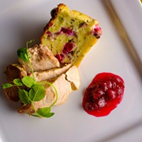Savoury Cranberry and  Herb Bread Pudding