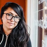 Ami Goto sells Dharma Sushi