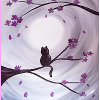 Painting Party to support Purple Cat Society