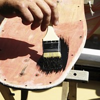 Broken Deck Show features art made from busted skateboards