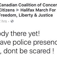 Looks like no one showed up to the Halifax M103 protest