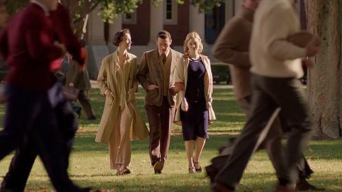 Hall, Evans and Heathcote stroll through their alternative lifestyle.