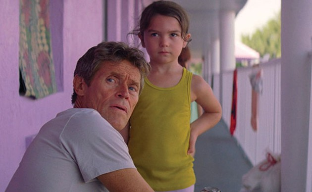 Willem Dafoe and the next great talent, Brooklynn Prince, in The Florida Project.