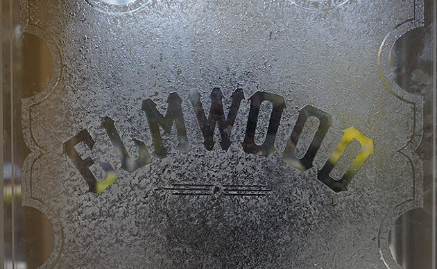 Frosted glass greets residents at the building's entrance. - IAN SELIG