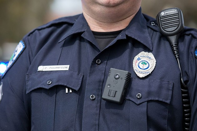 A body camera worn by a police officer in North Charleston, South Carolina. - SCREENCAP FROM WIKICOMMONS, VIA RYAN JOHNSON