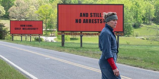 Frances McDormand in Three Billboards Outside Ebbing, Missouri. - VIA IMDB