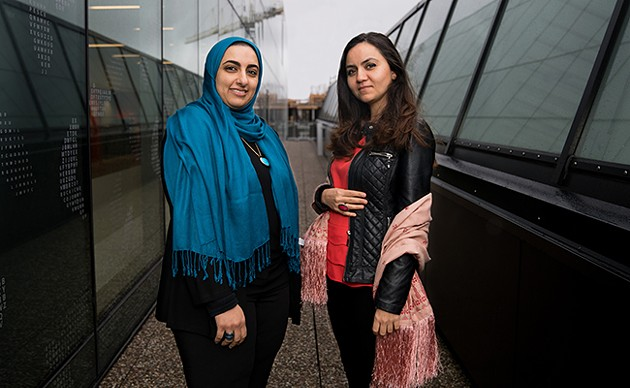Ghadeer Darwish (left) and Suzan Marie (right) are two of 18 participants in the Immigrant Women Entrepreneur Showcase. - IAN SELIG