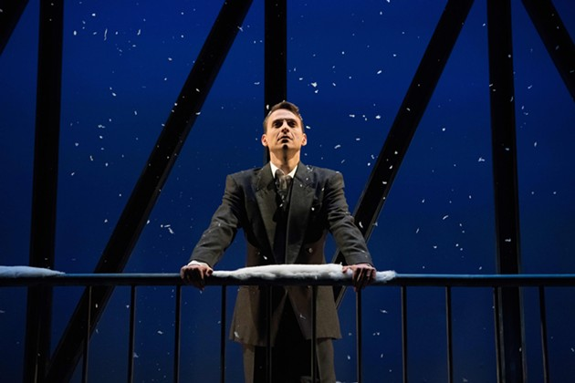 Chris Zonneville as George Bailey. - PHOTO BY ALLAN ZILKOWSKY