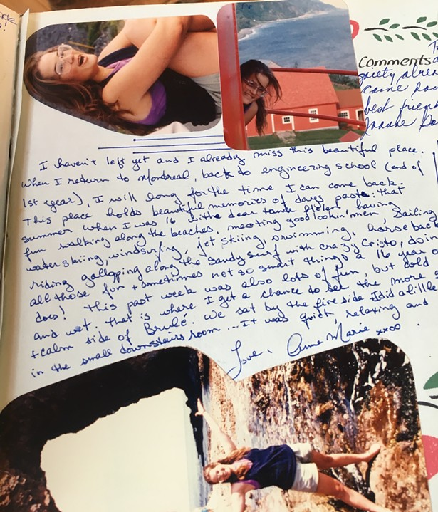 Anne-Marie Edward's last entry in the family cottage guestbook. The author of this piece wishes to remain anonymous. - SUBMITTED
