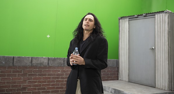 Franco as Wiseau in the film-within-a-film.