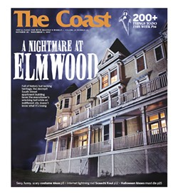 The Elmwood as cover model on The Coast's latest Halloween issue.