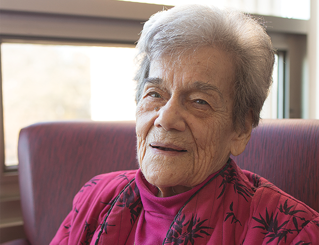 Peterson, pictured here shortly before her 100th birthday. - DYLAN CHEW