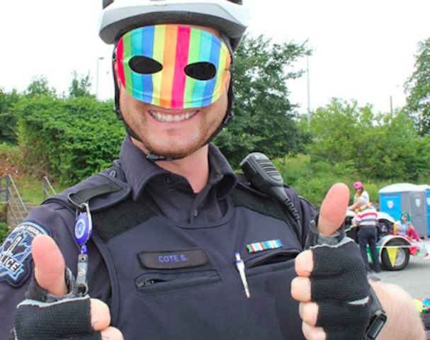 An HRP officer marching in Halifax's Pride parade two years ago. - VIA FACEBOOK