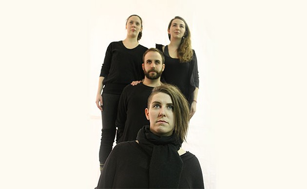 Gina Thornhill, Noella Murphy, Dan Bray and Colleen MacIsaac star in The Blazing World. - KATHRYN REEVES