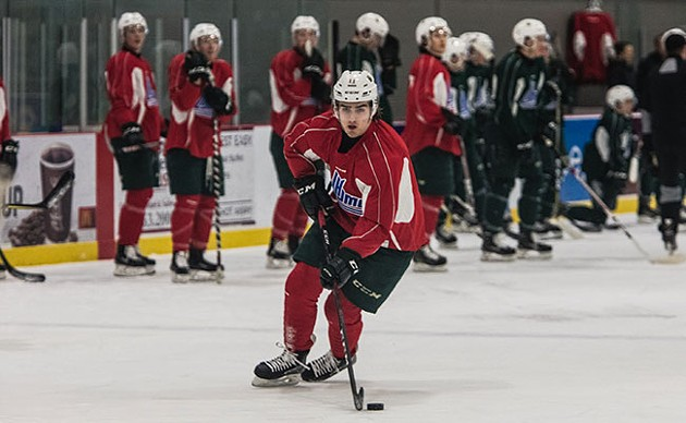 Filip Zadina, on the ice. - RILEY SMITH