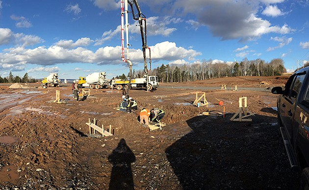 Robinson's Cannabis started building its cannabis growing facility in December 2017. - SUBMITTED