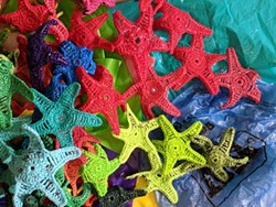 Jane Whitten shows how to make art out of plastic bags. - JANE WHITTEN