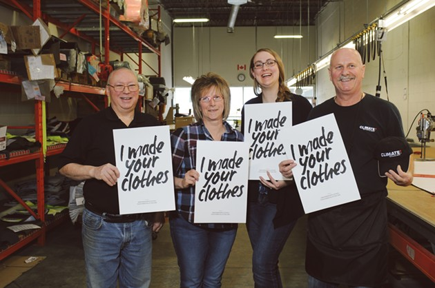 Some of the fine folks behind Faire Child's Burnside manufacturer, Climate Technical Gear - SUBMITTED