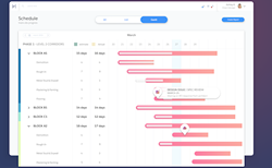 The Harbr dashboard view gives an overview of project progress. - SCREENSHOT