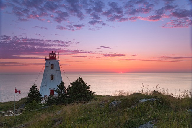 Sunrise at Swallow Tail Lighthouse. - SUBMITTED
