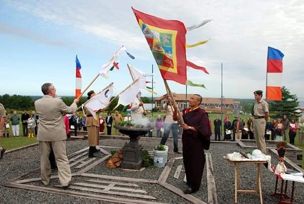 A purification ceremony before a program at Dorje Denma Ling. - PATRICIA ULLMAN