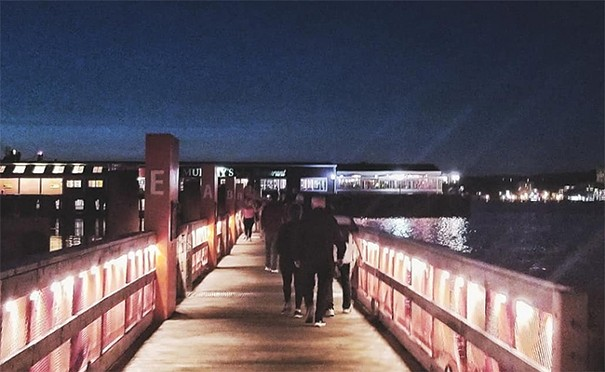 Stroll across the sea bridge. - SARAH COOKE