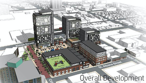 The proposed site, bordering Almon, Robie and St. Alban. - VIA WESTWOOD GROUP