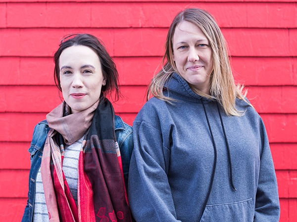 Gayle Collicutt and Jodi Brown are not letting the issue of period poverty go on their watch. - KYLEE NUNN