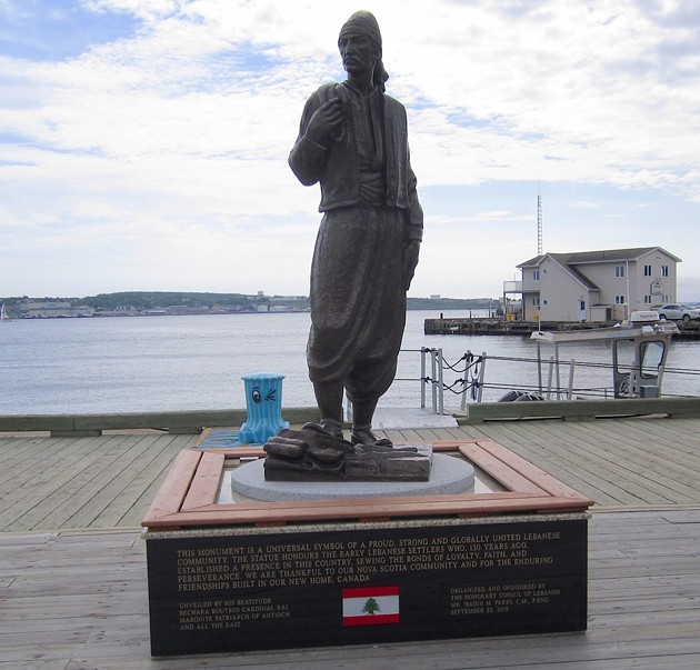 A statue on the Halifax waterfront in honour of early Lebanese settlers to Canada. - LEN CANFIELD